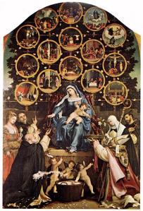 Lotto , Madonna del Rosario, 1539
